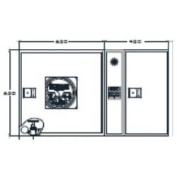 Armario De Extintor + Alarma Fabricado En Una Pieza Modelo Riastar. Dimensiones: 650 X 420 X 250 Mm