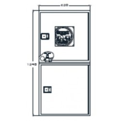 Armario Para Dos Extintores Modelo Riastar. Dimensiones: 620 X 620 X 250 Mm
