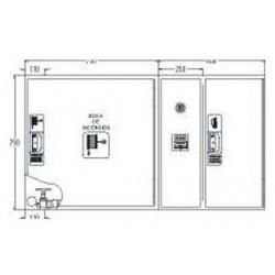 Armario De Extintor + Alarma Fabricado En Una Pieza Modelo Star. Dimensiones: 750 X 600 X 215 Mm