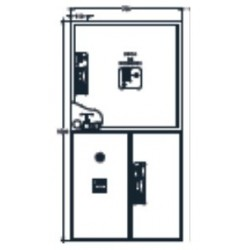 Armario De Ext. + Alarma Para Sistemas Verticales Modelo Stare30. Dimensiones: 750 X 750 X 215 Mm