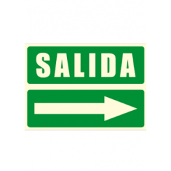 Cartel SALIDA + flecha derecha