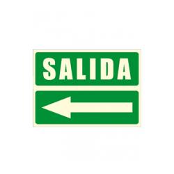 Cartel SALIDA + flecha izquierda