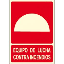 Cartel EQUIPO DE LUCHA CONTRAINCENDIOS