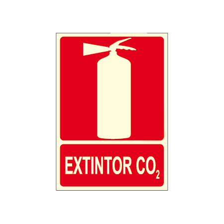 CO2 EXTINGUISHER poster with fire extinguisher logo