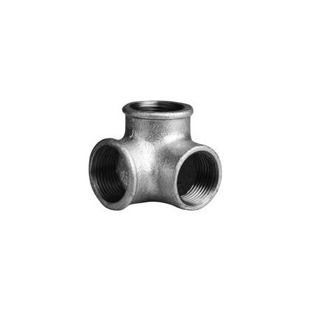 Side-outlet elbow F - Galvanized iron