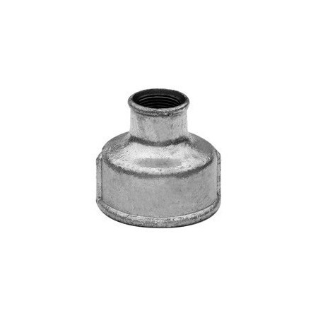 Reducing socket F/F - Galvanized iron