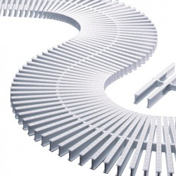 Módulo De Rejilla Transversal Para Curvas Con Alto 35 MM. ASTRALPOOL