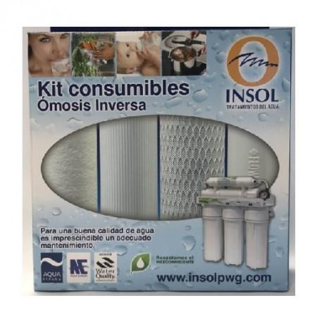 KIT Cartuchos De Repuesto Osmosis Inversa PALLAS (Sedimento + Gac + Block)