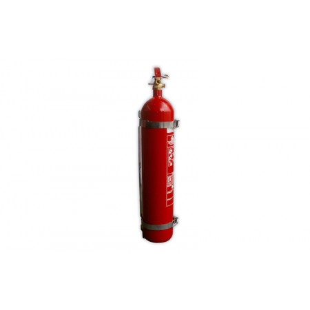 Support for CO2 Fire Extinguisher in Vehicle