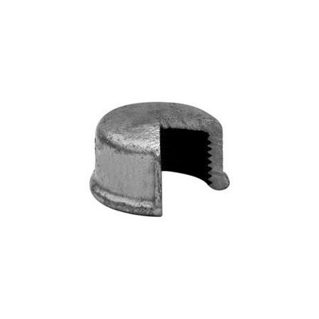Round cap F - Galvanized iron