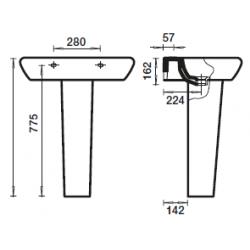 Pedestal ORIGINAL Para Lavabo RECORD - BELLAVISTA