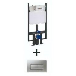 Cisterna De Empotrar Y Pulsador Cromo BOSSINI