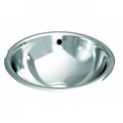 Évier de comptoir circulaire avec trop-plein bord incurvé - GENWEC