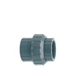Enlace 3 piezas Doble Rosca H PVC Presión
