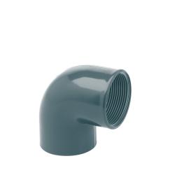 Codo 90º Doble Rosca H-H PVC Presión