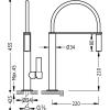 Monomando fregadero vertical CLASS con rociador extraíble. TRES