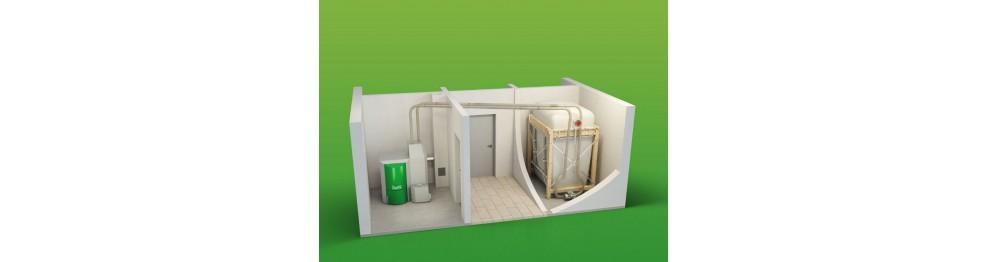 Componentes de instalação de biomassa