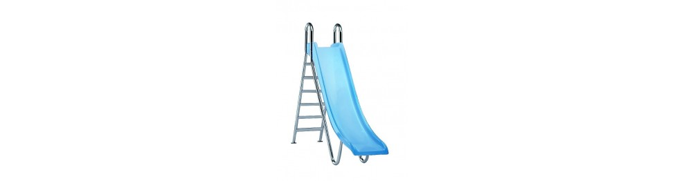 Water slides for swimming pools