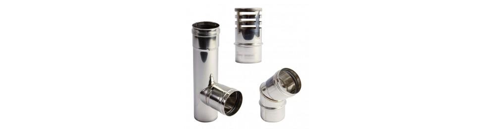 Caminetti in acciaio inox Strato semplice per stufe a pellet
