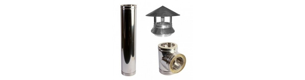 Stainless steel chimneys with double layer and gasket